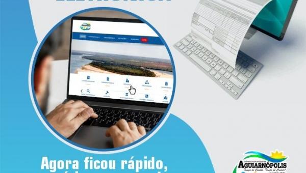 Prefeitura de Aguiarnópolis implanta serviço de nota fiscal eletrônica no município